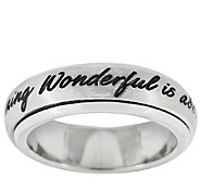 Stainless Steel Inspirational Spinning Design Band Ring - J294362