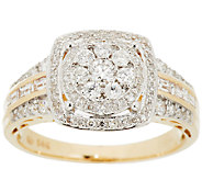 Round Cluster Design Halo Diamond Ring, 14K, 3/4cttw by Affinity - J295762