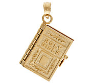 14K Gold Yellow Moveable Bible Pendant - J295862