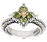 Barbara Bixby Sterling & 18k Multi Gemstone Flower Ring - J296862
