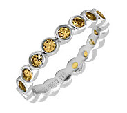 Simply Stacks Sterling Large Citrine Eternity Stackable Ring - J298662