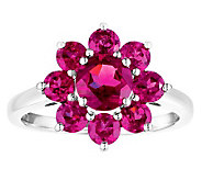 Sterling 2.75 cttw Rhodolite Flower Ring - J308562