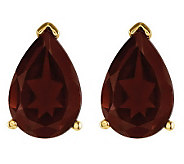 Pear-Shaped Gemstone Stud Earrings, 14K Gold - J314062