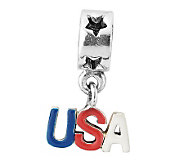 Prerogatives Sterling USA Dangle Bead - J315262