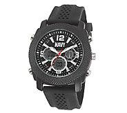 Wrist Armor Mens U.S. Navy C21 Watch, Black Dial, Black Stra - J316362