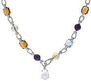 Judith Ripka 135.40 cttw Multi-Gemstone 24 Adjustable Necklace - J319962