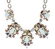 LOGO Links by Lori Goldstein Resin Rhinestone Collar Necklace - J320762