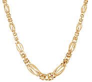 14K Gold 20 Graduated Byzantine Station Necklace, 11.4g - J321762