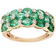 Zambian Emerald & Diamond Accent Wide Band Ring, 14K 1.80 cttw - J328262