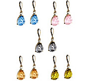 Joan Rivers Set/5 Faceted Teardrop Lever Back Earrings - J331462