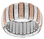 As Is Steel by Design Stretch Glitter Ring - J332362