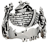 Sterling Silver Noahs Ark Ring by Silver Style - J333662