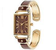 As Is Liz Claiborne New York Bangle Watch with Tonal Dial - J333962