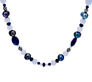Carolyn Pollack 21 Shades of Gemstone Bead & Sterling Necklace - J334362