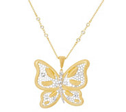 As is Genesi 18K Clad Butterfly Enhancer with 24 Chain,28.0g - J345962