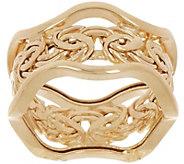 14K Gold Byzantine Scalloped Band Ring - J346462