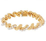 Honora Cultured Pearl 14K Plated San Marco Bracelet - J347762