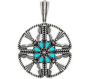 American West Sleeping Beauty Turquoise Circle Enhancer - J348462