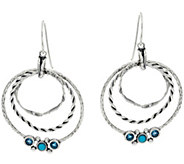 Or Paz Sterling Silver Multi-textured Gemstone Accent Earrings - J349062