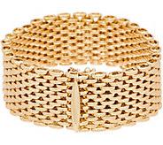 Italian Gold 7-1/4 Bold Panther Link Bracelet 14K Gold, 41.0g - J350962
