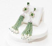 Iolite or Rose Quartz Tassel Earrings, Sterling - J354062