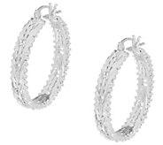 Imperial Silver Mirror Wheat Hoop Earrings, Sterling Silver - J354762