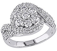 Diamond Floral Swirl Engagement Ring, 14K, 2 cttw, by Affinit - J376562