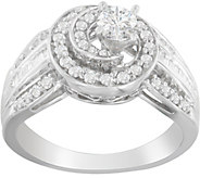 Diamond Swirl 2-Piece Ring, 14K, 6/10 cttw, byAffinity - J376862