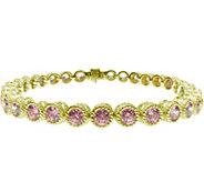 Judith Ripka Sterling & 14K Clad Pink Diamonique 8 Bracelet - J379962