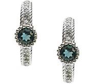 Judith Ripka Sterling Gemstone and Diamonique Earrings - J380062