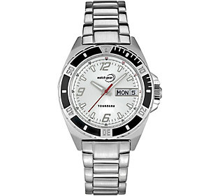 Tourneau Ladies Stainless White Dial Analog Sport Watch
