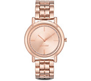Nine West Ladies Rosetone Ina Bracelet Watch - J380962