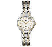 Timex Ladies Two-Tone Sporty Dress Bracelet Wa tch - J105163
