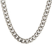 Forza Mens Stainless Steel Curb Link Necklace - J107263