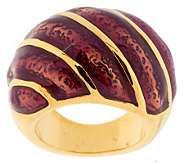Kenneth Jay Lanes Goldtone and Enamel Dome Ring - J270463