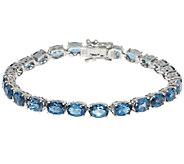 20.00 ct tw London Blue Topaz Sterling 7-1/4 Tennis Bracelet - J288763