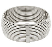 Stainless Steel Polished Bold Ribbed Bangle - J289863