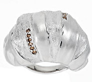 Mary Esses Sterling Domed Wrapped 1/8 ct tw Diamond Ring - J290663