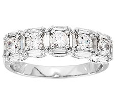 Epiphany Diamonique 1.80 cttw 5-Stone Band Ring