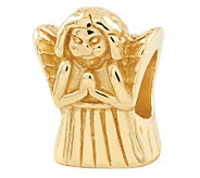Prerogatives 14K Gold-Plated Sterling Praying Angel Bead - J302863