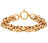 As Is 14K Gold 6-3/4 Polished Byzantine Bracelet, 11.4g - J319163
