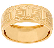14K Gold Polished Greek Key Design Band Ring - J319363