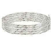 As Is UltraFine Silver Large Multi-Row Twist Bangle 16.0g - J319863