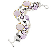 Michael Dawkins Sterling 36.00 ct tw Multi-Gemstone Toggle Bracelet - J320363