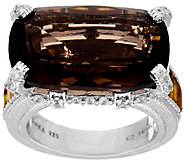 Judith Ripka Sterling 11.70 cttw Gemstone Ring - J320863