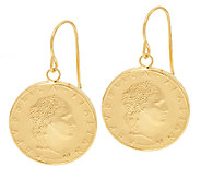 Vicenza Gold 50 Lire Coin Dangle Earrings, 14K - J324663