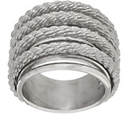 Judith Ripka Sterling or 14K Clad Multi-row Ring - J325663