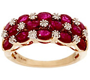 Mozambique Ruby & Diamond Accent Wide Band Ring, 14K 3.00 cttw - J328263