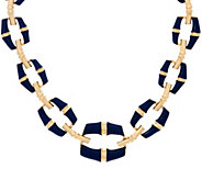 C. Wonder 16-3/4 Bold Graduated Enamel Bamboo Link Necklace - J328763