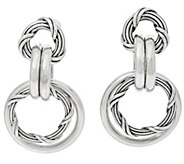 Peter Thomas Roth Sterling Signature Mixed Link Hoop Earrings - J328863